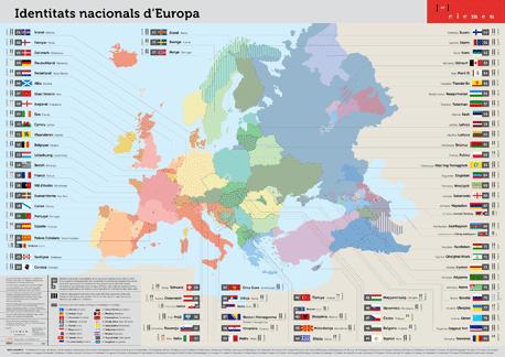 mapa identitats nacionals a Europa