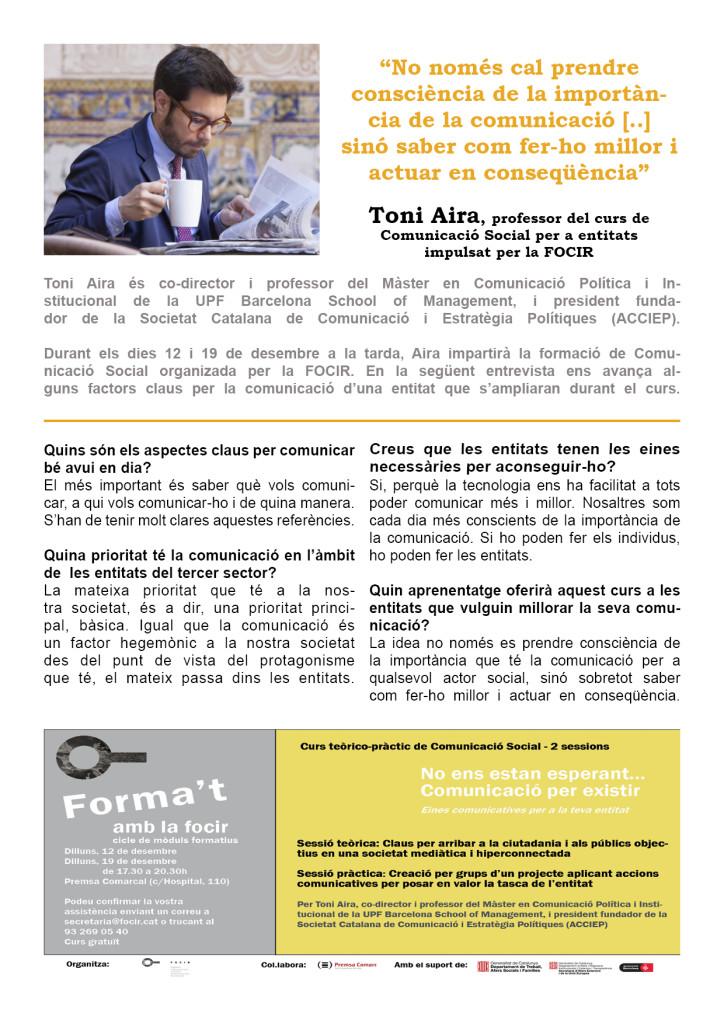 Entrevista Toni Aira